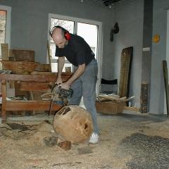 Im Atelier in Pfinztal-Berghausen
